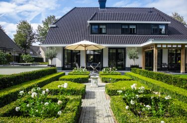 luxe landelijke tuin