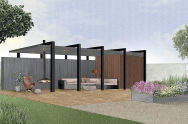 luxe tuinhuis met veranda